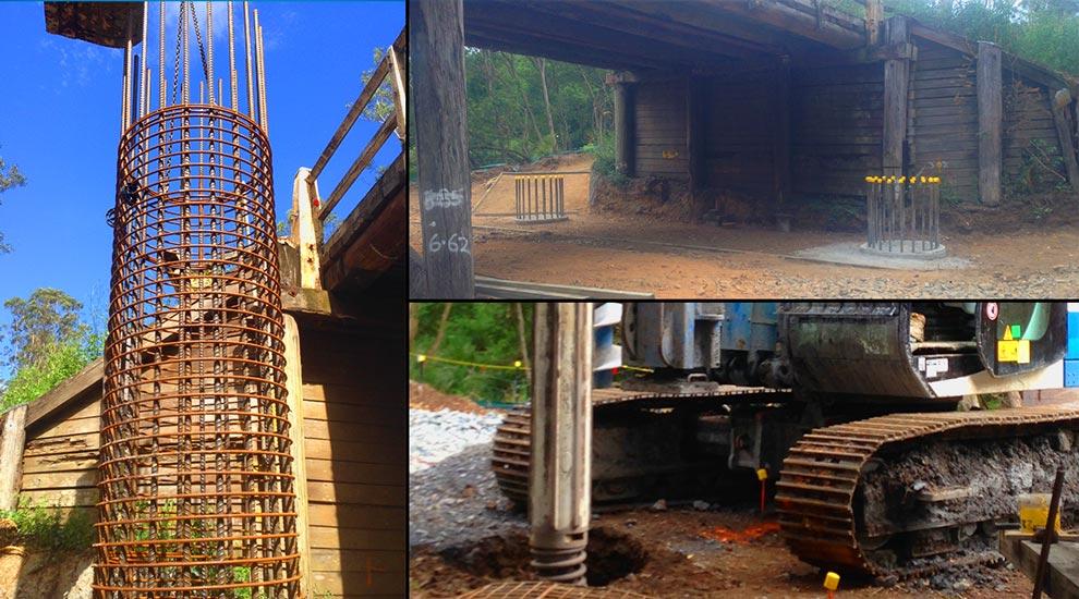 Innovative Piling Project Hyndmans Creek Bridge