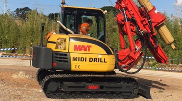 Innovative Piling Equipment Midi Mait Drill