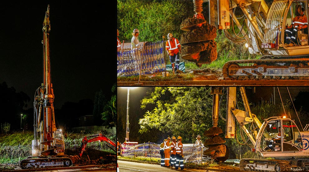 Innovative Piling Project Cumberland Highway, Wentworthville